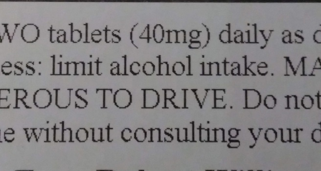 1 limit alcohol intake
